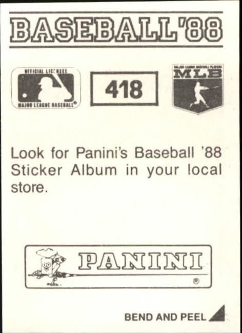 thumbnail 249 - 1988 Panini Stickers Baseball Cards 250-480 (A4394) - You Pick - 10+ FREE SHIP