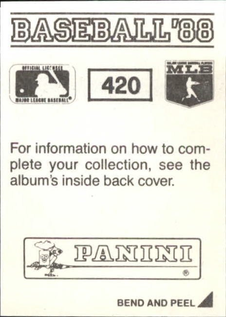 thumbnail 253 - 1988 Panini Stickers Baseball Cards 250-480 (A4394) - You Pick - 10+ FREE SHIP