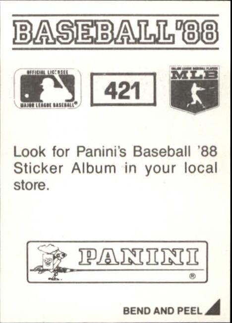 thumbnail 255 - 1988 Panini Stickers Baseball Cards 250-480 (A4394) - You Pick - 10+ FREE SHIP
