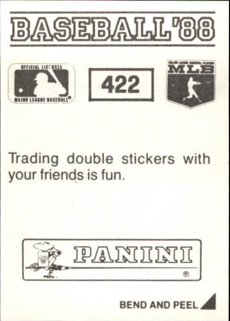 thumbnail 257 - 1988 Panini Stickers Baseball Cards 250-480 (A4394) - You Pick - 10+ FREE SHIP