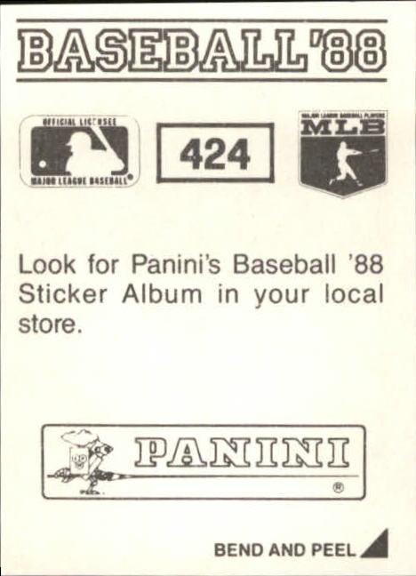 thumbnail 261 - 1988 Panini Stickers Baseball Cards 250-480 (A4394) - You Pick - 10+ FREE SHIP