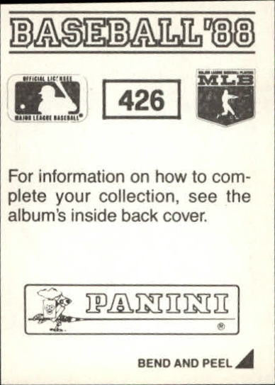 thumbnail 265 - 1988 Panini Stickers Baseball Cards 250-480 (A4394) - You Pick - 10+ FREE SHIP