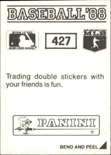 thumbnail 267 - 1988 Panini Stickers Baseball Cards 250-480 (A4394) - You Pick - 10+ FREE SHIP