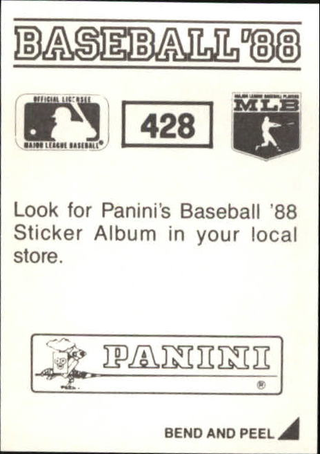 thumbnail 269 - 1988 Panini Stickers Baseball Cards 250-480 (A4394) - You Pick - 10+ FREE SHIP