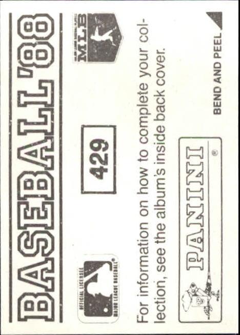 thumbnail 271 - 1988 Panini Stickers Baseball Cards 250-480 (A4394) - You Pick - 10+ FREE SHIP
