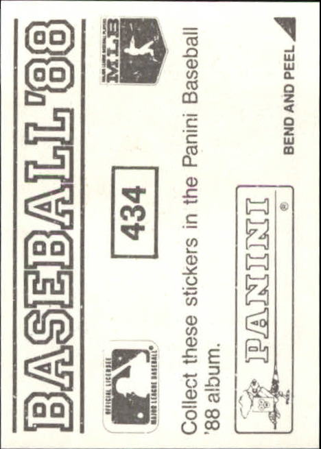 thumbnail 275 - 1988 Panini Stickers Baseball Cards 250-480 (A4394) - You Pick - 10+ FREE SHIP