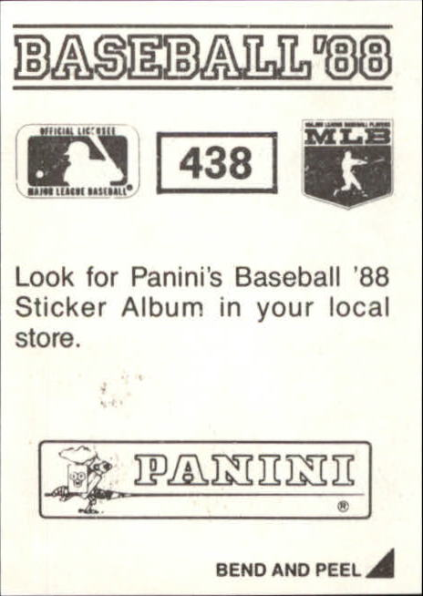 thumbnail 281 - 1988 Panini Stickers Baseball Cards 250-480 (A4394) - You Pick - 10+ FREE SHIP