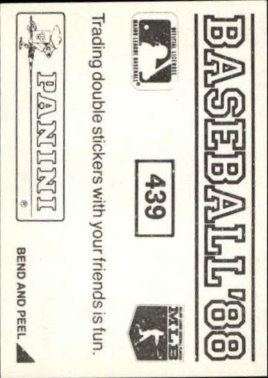 thumbnail 283 - 1988 Panini Stickers Baseball Cards 250-480 (A4394) - You Pick - 10+ FREE SHIP