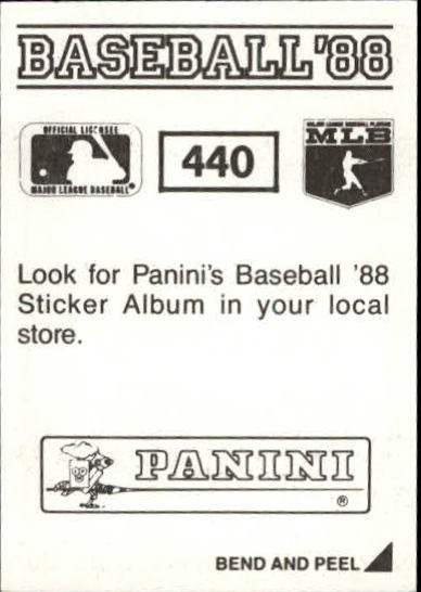 thumbnail 285 - 1988 Panini Stickers Baseball Cards 250-480 (A4394) - You Pick - 10+ FREE SHIP