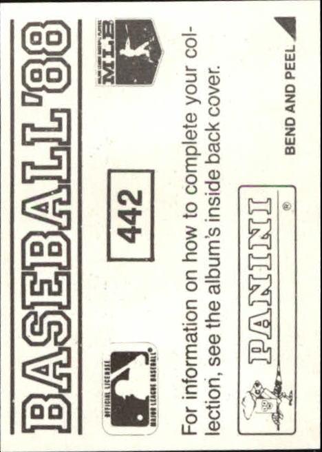 thumbnail 287 - 1988 Panini Stickers Baseball Cards 250-480 (A4394) - You Pick - 10+ FREE SHIP