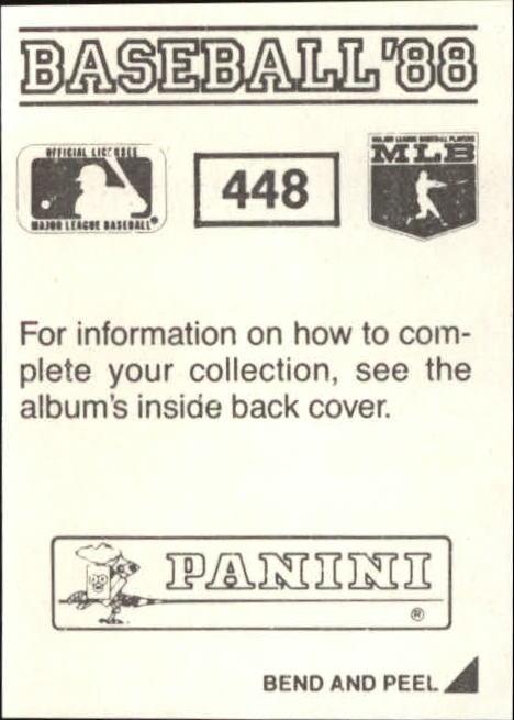 thumbnail 295 - 1988 Panini Stickers Baseball Cards 250-480 (A4394) - You Pick - 10+ FREE SHIP