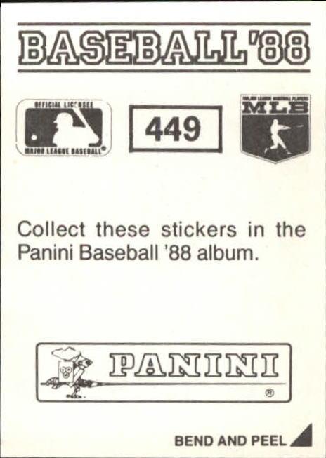 thumbnail 297 - 1988 Panini Stickers Baseball Cards 250-480 (A4394) - You Pick - 10+ FREE SHIP