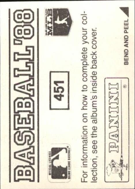 thumbnail 299 - 1988 Panini Stickers Baseball Cards 250-480 (A4394) - You Pick - 10+ FREE SHIP