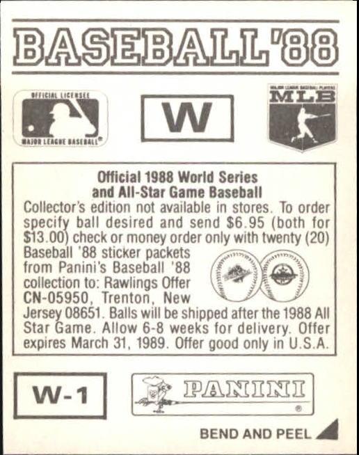 thumbnail 339 - 1988 Panini Stickers Baseball Cards 250-480 (A4394) - You Pick - 10+ FREE SHIP
