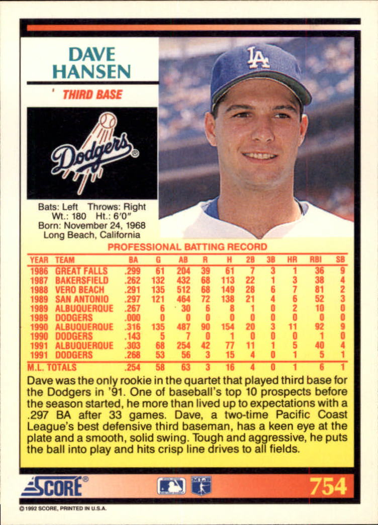 Details About 1992 Score Baseball Cards 751 893 Rookies A2609 You Pick 10 Free Ship
