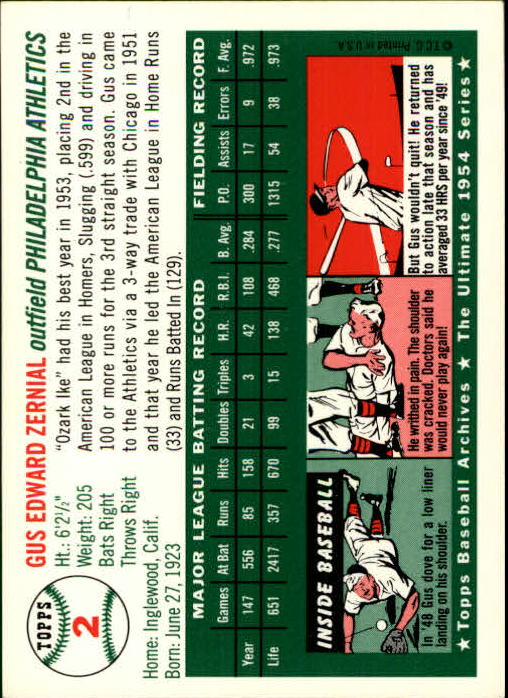 1994-Topps-Archives-1954-BB-Card-s-1-258-A1243-You-Pick-10-FREE-SHIP thumbnail 3