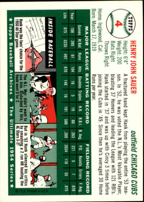 1994-Topps-Archives-1954-BB-Card-s-1-258-A1243-You-Pick-10-FREE-SHIP thumbnail 5