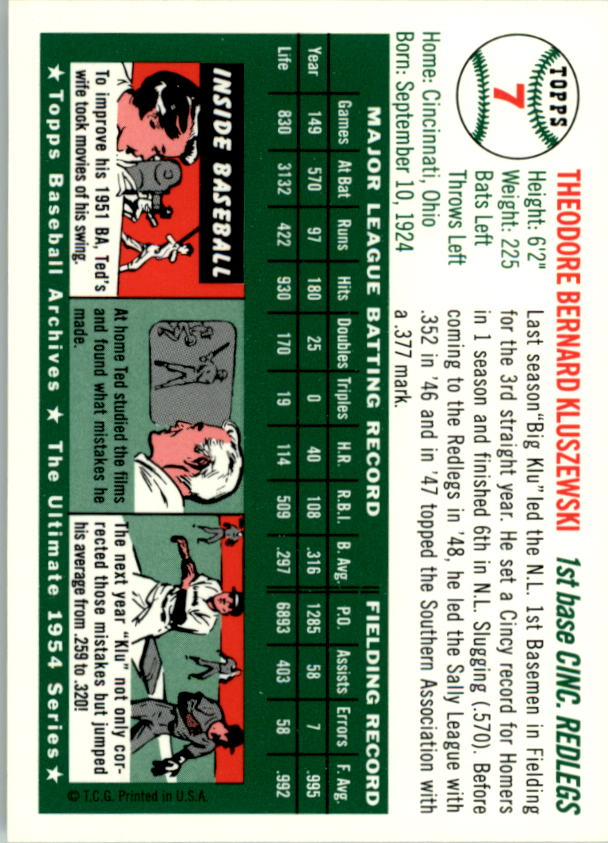 1994-Topps-Archives-1954-BB-Card-s-1-258-A1243-You-Pick-10-FREE-SHIP thumbnail 9