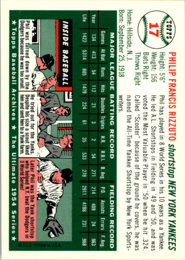 1994-Topps-Archives-1954-BB-Card-s-1-258-A1243-You-Pick-10-FREE-SHIP thumbnail 22