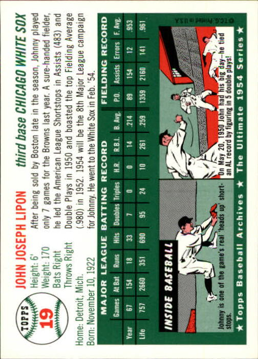 1994-Topps-Archives-1954-BB-Card-s-1-258-A1243-You-Pick-10-FREE-SHIP thumbnail 24