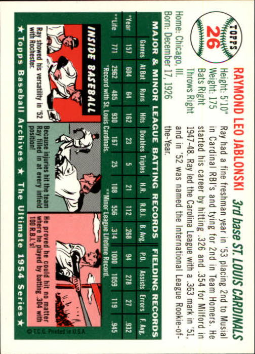 1994-Topps-Archives-1954-BB-Card-s-1-258-A1243-You-Pick-10-FREE-SHIP thumbnail 32