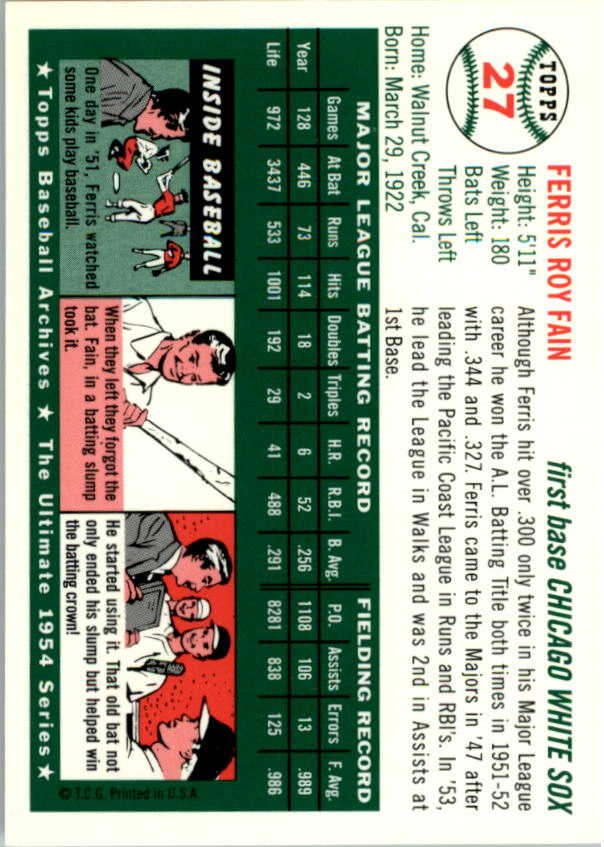 1994-Topps-Archives-1954-BB-Card-s-1-258-A1243-You-Pick-10-FREE-SHIP thumbnail 34
