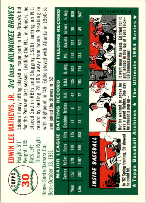 1994-Topps-Archives-1954-BB-Card-s-1-258-A1243-You-Pick-10-FREE-SHIP thumbnail 38