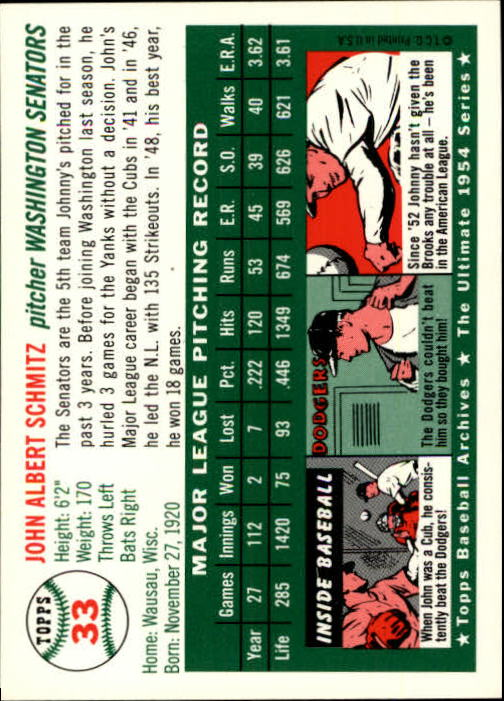 1994-Topps-Archives-1954-BB-Card-s-1-258-A1243-You-Pick-10-FREE-SHIP thumbnail 43