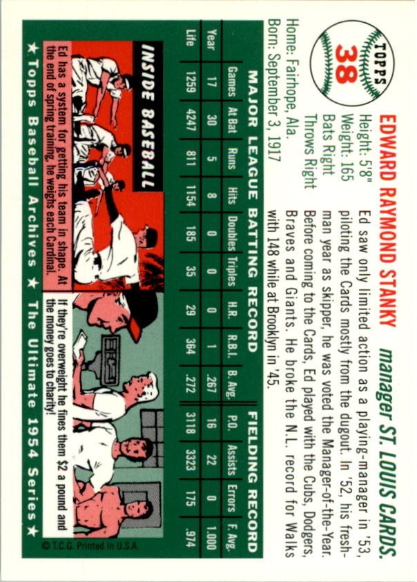 1994-Topps-Archives-1954-BB-Card-s-1-258-A1243-You-Pick-10-FREE-SHIP thumbnail 53