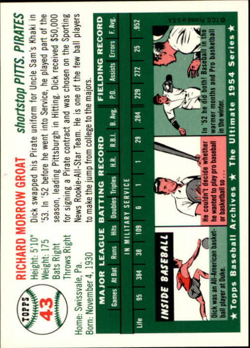 1994-Topps-Archives-1954-BB-Card-s-1-258-A1243-You-Pick-10-FREE-SHIP thumbnail 61
