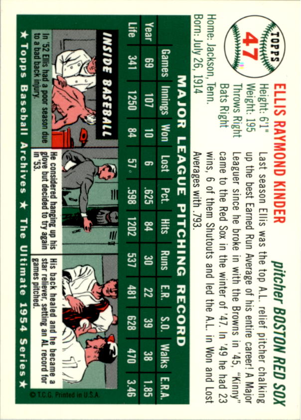 1994-Topps-Archives-1954-BB-Card-s-1-258-A1243-You-Pick-10-FREE-SHIP thumbnail 67