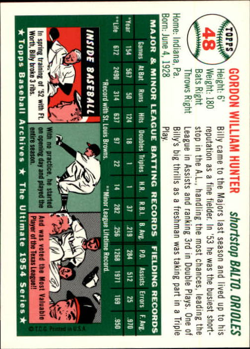 1994-Topps-Archives-1954-BB-Card-s-1-258-A1243-You-Pick-10-FREE-SHIP thumbnail 69