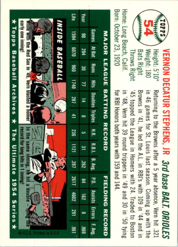 1994-Topps-Archives-1954-BB-Card-s-1-258-A1243-You-Pick-10-FREE-SHIP thumbnail 78