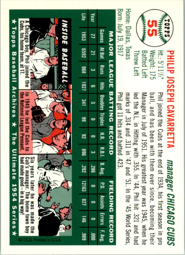 1994-Topps-Archives-1954-BB-Card-s-1-258-A1243-You-Pick-10-FREE-SHIP thumbnail 80