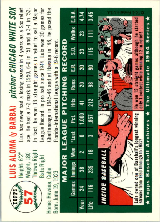 1994-Topps-Archives-1954-BB-Card-s-1-258-A1243-You-Pick-10-FREE-SHIP thumbnail 84