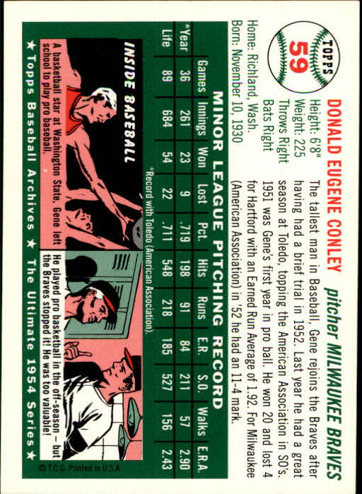1994-Topps-Archives-1954-BB-Card-s-1-258-A1243-You-Pick-10-FREE-SHIP thumbnail 88