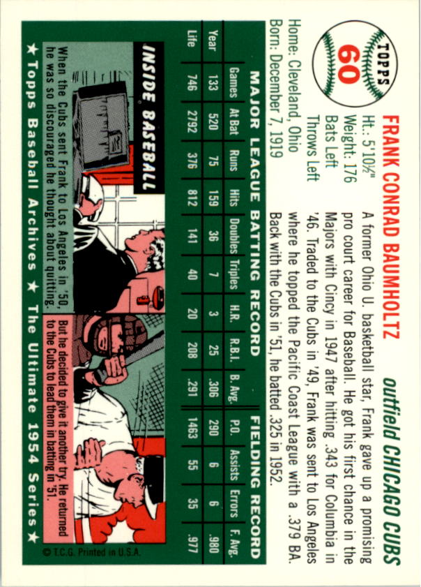1994-Topps-Archives-1954-BB-Card-s-1-258-A1243-You-Pick-10-FREE-SHIP thumbnail 90