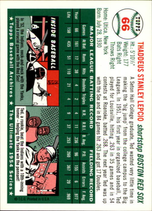 1994-Topps-Archives-1954-BB-Card-s-1-258-A1243-You-Pick-10-FREE-SHIP thumbnail 99
