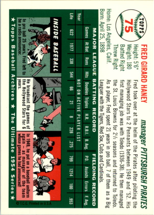1994-Topps-Archives-1954-BB-Card-s-1-258-A1243-You-Pick-10-FREE-SHIP thumbnail 114