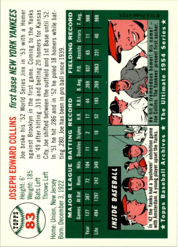 1994-Topps-Archives-1954-BB-Card-s-1-258-A1243-You-Pick-10-FREE-SHIP thumbnail 124