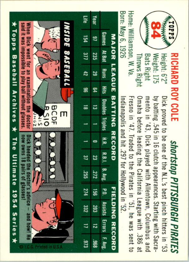 1994-Topps-Archives-1954-BB-Card-s-1-258-A1243-You-Pick-10-FREE-SHIP thumbnail 126