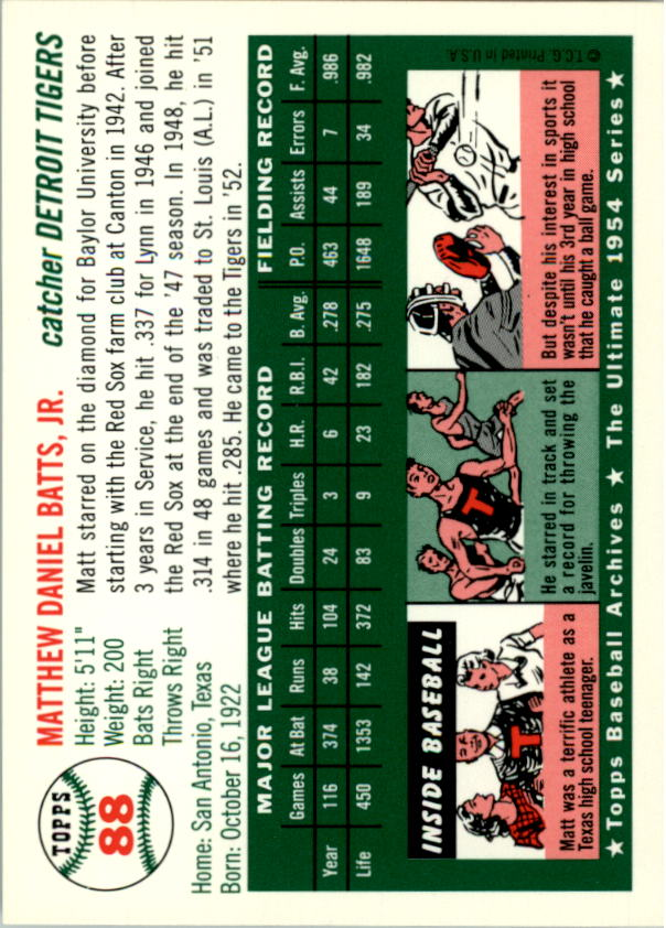 1994-Topps-Archives-1954-BB-Card-s-1-258-A1243-You-Pick-10-FREE-SHIP thumbnail 133