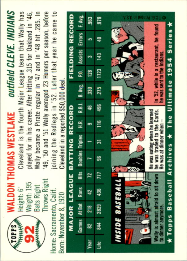1994-Topps-Archives-1954-BB-Card-s-1-258-A1243-You-Pick-10-FREE-SHIP thumbnail 138
