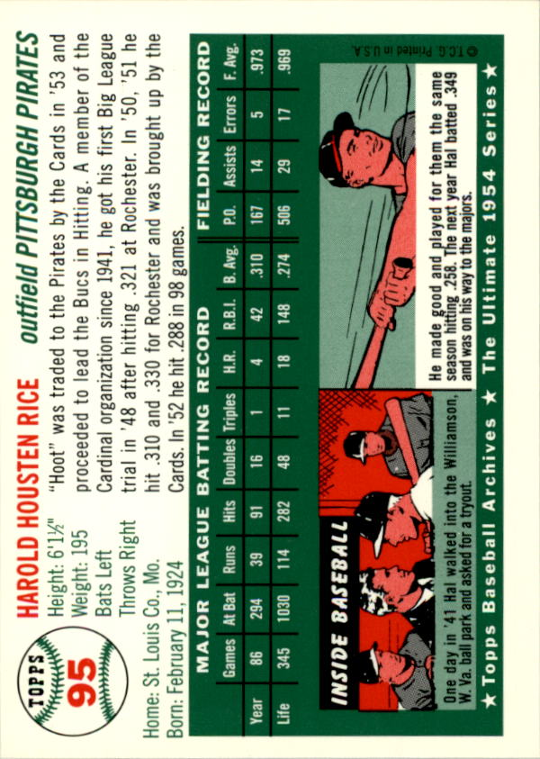 1994-Topps-Archives-1954-BB-Card-s-1-258-A1243-You-Pick-10-FREE-SHIP thumbnail 143