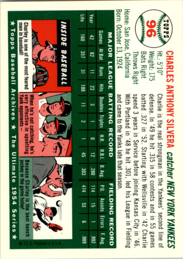 1994-Topps-Archives-1954-BB-Card-s-1-258-A1243-You-Pick-10-FREE-SHIP thumbnail 145