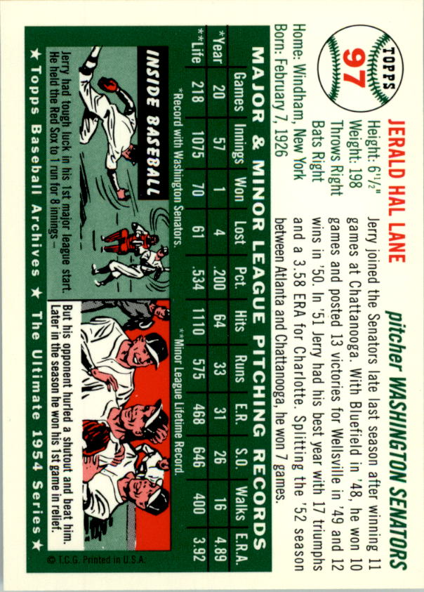 1994-Topps-Archives-1954-BB-Card-s-1-258-A1243-You-Pick-10-FREE-SHIP thumbnail 147