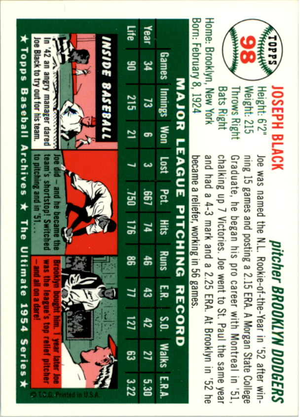 1994-Topps-Archives-1954-BB-Card-s-1-258-A1243-You-Pick-10-FREE-SHIP thumbnail 149