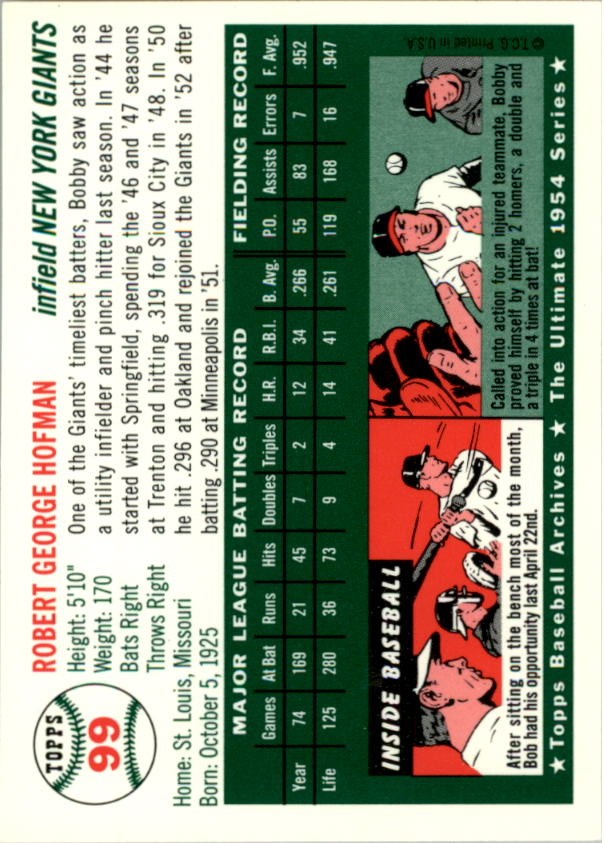 1994-Topps-Archives-1954-BB-Card-s-1-258-A1243-You-Pick-10-FREE-SHIP thumbnail 151