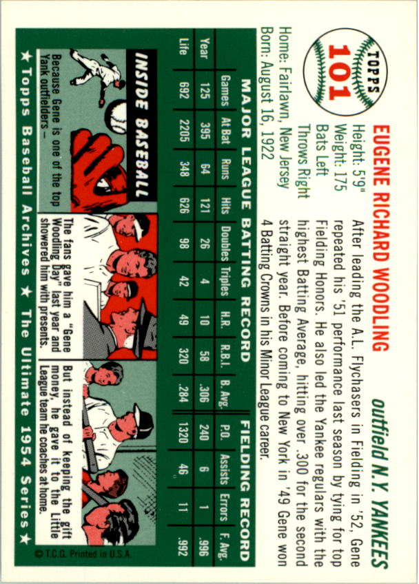 1994-Topps-Archives-1954-BB-Card-s-1-258-A1243-You-Pick-10-FREE-SHIP thumbnail 154