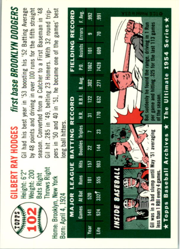 1994-Topps-Archives-1954-BB-Card-s-1-258-A1243-You-Pick-10-FREE-SHIP thumbnail 156